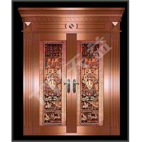 Buy cheap carved copper art door from Wholesalers