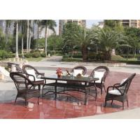 Buy cheap Stylish Mesh Design Outdoor Rattan Furniture With Store Table from wholesalers