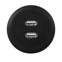 Buy cheap Black Color USB Power Socket , DIY USB Plug Outlet ABS Material Indoor Use from wholesalers
