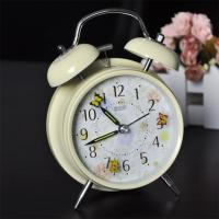 Buy cheap Plastic twin-bell alarm clock with cartoon dail from wholesalers