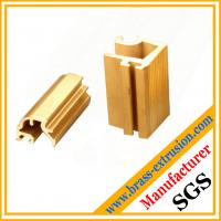 China decoration material brass alloy extrusion section on sale