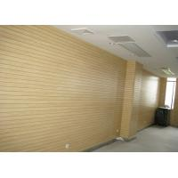 Buy cheap Sound Absorbing MDF Wooden Grooved Acoustic Panel / Melamine Faced MDF Board from Wholesalers
