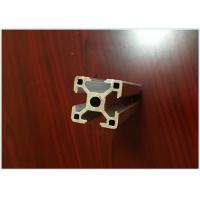 China 6063 T5 Black Anodized Aluminum Extrusions for Aluminum T - Slotted Frame 40 X 40mm on sale