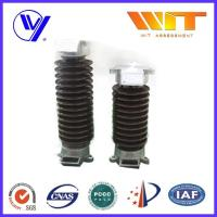 Buy cheap Lightning Protection Electric Porcelain Surge Arrester With Insulating Bracket , Single Phase from Wholesalers