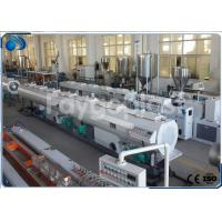 Buy cheap 75~250mm HDPE Pipe Extruder Machine Production Line For Water Supply Pipe / Gas Pipe from Wholesalers