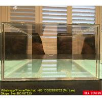 Quality Clear Acrylic Shoe Box Display And Storage Drawer Box With Silk Screen Logo for sale