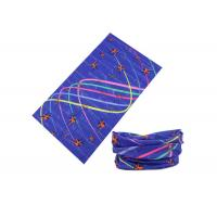 Quality Colorful Lines UV Buff Headwear 25 * 50 CM For Running / Climbing / Fishing wholesale
