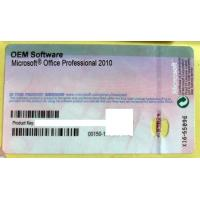 Buy cheap Microsoft Office 2010 Professional OEM software Product key sticker from Wholesalers