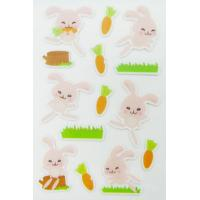 Rabbit Shape Puffy Animal Stickers For Scrapbooking With Rotary Printing