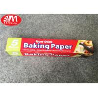 China Double Sides Silicone Coated Parchment Paper Roll 300mm×5m Size Food Wrapping / Baking on sale