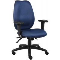 Boss - Multi-Function High Back Computer Task Chair in Blue Fabric
