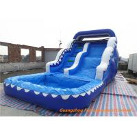 Buy cheap Kids Inflatable Wave water slide With Small Pool For Summer Games from wholesalers