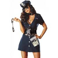 Quality Halloween Corrupt Cop Adult Princess Costume Sexy Police Officer Swat wholesale