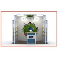 Buy cheap White Custom Exhibit Booths For Trade Show , Aluminum Modular Booth Systems from Wholesalers
