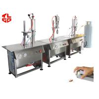 Quality Semi Automatic Aerosol Can Filling Equipment For Insecticide Pesticide Spray Bottle wholesale