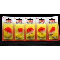 Buy cheap Contrast Color 100% Handmade Number Candle with Red and Yellow Coloring from Wholesalers
