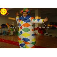 Quality Nylon Multicolor Inflatable Clown Costume With Hat Suitable For 1.8 Meters Man wholesale