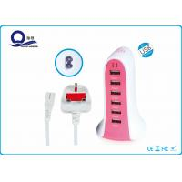 Quality 6 USB Output Smart Multi Port USB Charger , Multiport Usb Mobile Charger for sale