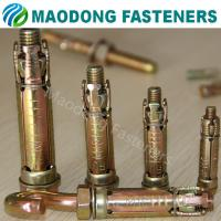 Buy cheap Maodong Fasteners M10*70 Hook Bolt Heavy Duty 4pcs Shield Anchor from Wholesalers