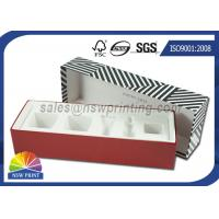 Buy cheap Luxury Paper Gift Box Cosmetic Rigid Cardboard Box With Flocking Plastic Blister from Wholesalers