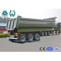 Buy cheap U Shape Aluminium Dump Truck Trailer 40 Ton 25 CBM Heavy Duty High Intensity from Wholesalers