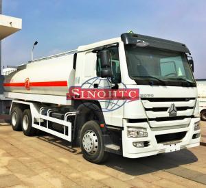 Buy cheap 6X4 Stainless Steel Fuel Transport Trucks, 20000 - 25000 Liter Gasoline Tanker Truck from wholesalers