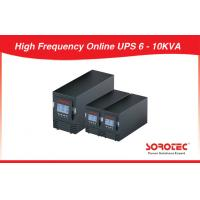 LCD RS232 SNMP Single Phase 60Hz High Frequency Online UPS 6 - 10kva For Computer, Telecom