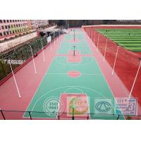 Buy cheap IAAF Anti - ultraviolet Maple Outdoor Basketball Court Flooring Material For School Playground / Stadium from Wholesalers