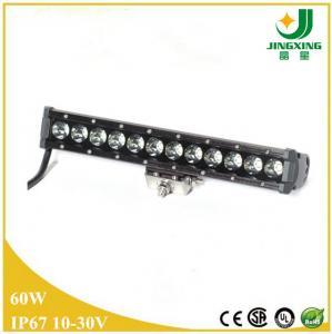 Buy cheap 10-30v CREE 60 watt led lightbar one row spot flood combo from Wholesalers