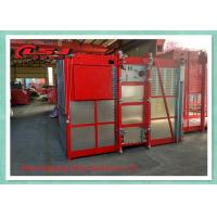 Buy cheap 1 Ton Capacity Double Cage Construction Elevator Safety For Passenger And Material from Wholesalers