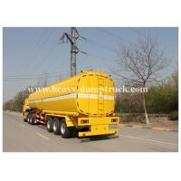 Buy cheap Single compartment small fuel tanker semi trailer three axles 36000 liters Yellow color from Wholesalers