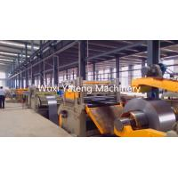 China Customized Galvanized Steel Slitting Lines With Hydraulic Decoiler and Straightener on sale