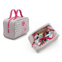 Buy cheap Custom Makeup Storage Bags With Handles / Women Printed Travel Hand Bags from wholesalers