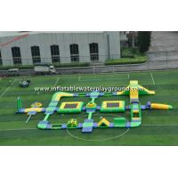 Yellow / Green Inflatable Water Park , Inflatable Water Games For Entertainment