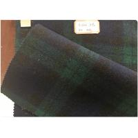 Buy cheap Double Sided Green Tartan Fabric60% Wool , Scottish Plaid FabricWith Horizontal And Vertical Line from Wholesalers