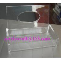Buy cheap Customized hand made high quality trasparent acrylic tissue boxes from Wholesalers