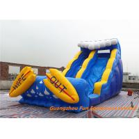 Buy cheap CE Certificate Commercial Inflatable Slide With Small Pool / Pool Slide from wholesalers