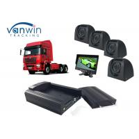 Buy cheap Taxi CCTV Wifi Bus 4 Camera Car DVR 4CH 3G Live Video Tracking with GPS from Wholesalers
