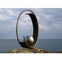 Buy cheap Modern Geometric Stainless Steel Outdoor Metal Sculpture For Large Garden Decoration from wholesalers