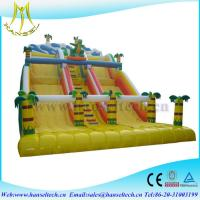 Buy cheap Hansel attractive kids amusement park games inflatable climbing wall with slide from Wholesalers