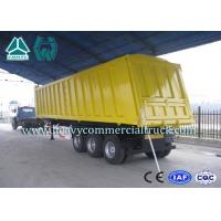 Buy cheap High Efficiency Tipper Semi Trailer 25CBM - 45CBM for Mining / Construction from Wholesalers