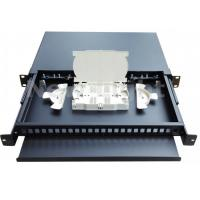 Buy cheap Indoor 19 Inch Fiber Optic Distribution Frame Pull Type 24 Port Patch Panel Rack Mount from wholesalers