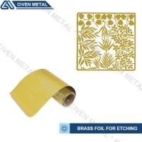 Buy cheap Rolled Brass Foil Roll For Etching In A Wide Range Of Thicknesses And Widths from wholesalers