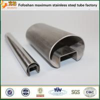 China Stainless steel slotted rail fittings SS304 pipe price per kg on sale
