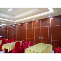 Buy cheap MDF + Melamine Movable Restaurant Partition Wall / Folding Room Partitions from wholesalers