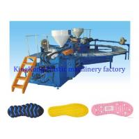 Buy cheap Auto Horizontal TPR Sole Moulding Machine / Shoe Making Equipment Rotary Type from Wholesalers
