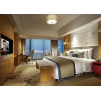Fashion Double Bed Commercial Hotel Bedroom Furniture Shiny Finished