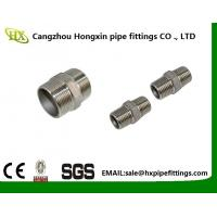 China 2 Hex Nipple 3/8 Male x 3/8 Male 304 Stainless Steel threaded Pipe Fitting NPT on sale
