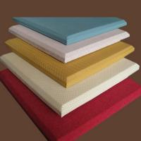 Buy cheap Fireproof Material Acoustic Fabric Wall Covering Red / Yellow / White from Wholesalers