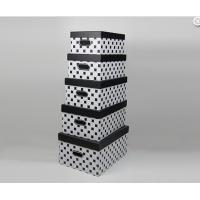 Buy cheap Black White Handmade High Gloss Gift Boxes Recetangle with Flushed Lid from Wholesalers